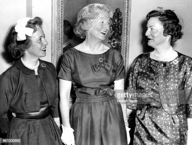 Officers of Boston's Vincent Club are pictured on May 17 1960 From left are second vice president Mrs Ralph S Thompson president Mrs Charles F Hovey...