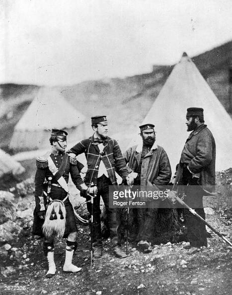 Officers of the 42nd Highlanders regiment known as the 'Black Watch' during the Crimean War