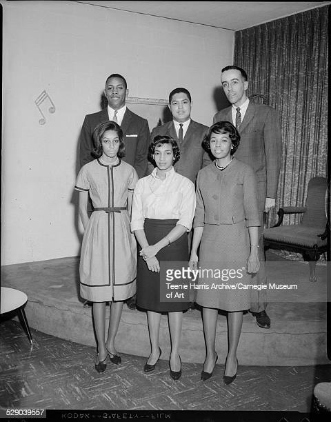 Officers of Young Adult Chapter of NAACP first row from left Rose Marie Mitchell Patricia Adams and Brenda Leach back row Hubert Ivey Walter Wray and...