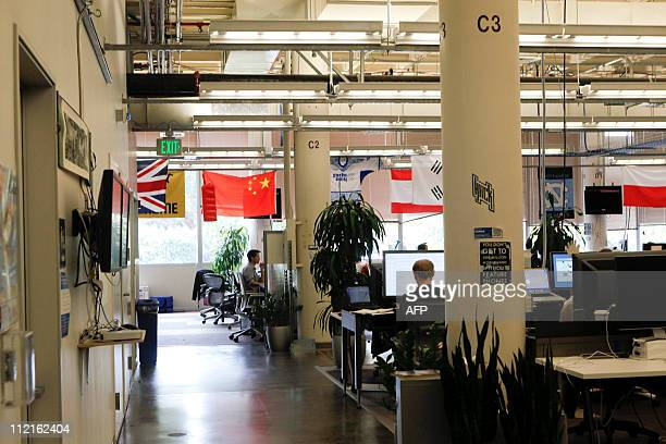 Offices at Facebook headquarters in Palo Alto CA on Wednesday April 13 2011 AFP PHOTO / Ryan Anson