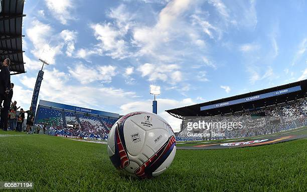 Official ball of Adidas prior the UEFA Europa League match between US Sassuolo Calcio and Athletic Club at Mapei Stadium Citta' del Tricolore on...