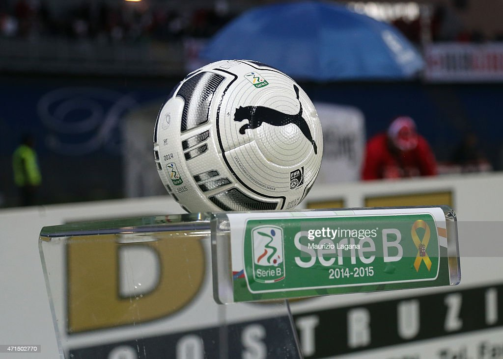 Official ball of Serie B during the Serie B match between Carpi FC and FC Bari at Stadio Sandro Cabassi on April 28 2015 in Carpi Italy