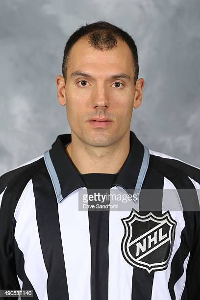 Official Bryan Pancich poses for his official headshot for the 20152016 season on September 15 2015 at the HarborCenter in Buffalo New York United...