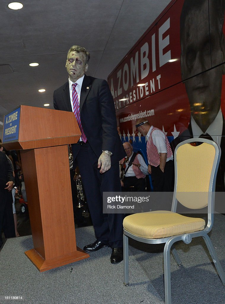 Official Campaign Rally for Presidential Candidate A. Zombie during Dragon*Con 2012 at The Mariott Marquis on September 1, 2012 in Atlanta, Georgia.