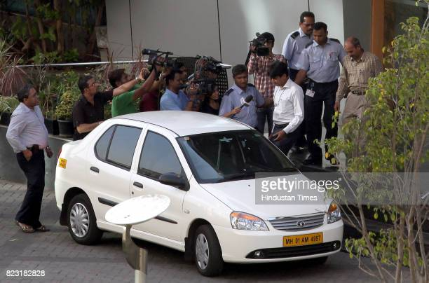 CBI official coming outside the Vodafone office at Lower Parel in Mumbai on saturday