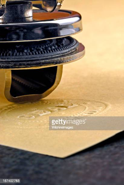 Official Corporate or Notary Raised Seal Embosser and Parchment Paper