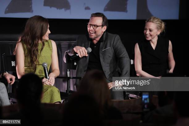 MR ROBOT Official Emmy Event Pictured Carly Chaikin Christian Slater Portia Doubleday