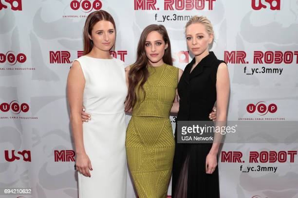 MR ROBOT Official Emmy Event Pictured Grace Gummer Carly Chaikin Portia Doubleday