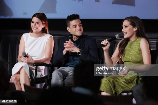 MR ROBOT Official Emmy Event Pictured Grace Gummer Rami Malek Carly Chaikin