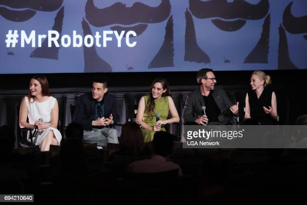 MR ROBOT Official Emmy Event Pictured Grace Gummer Rami Malek Carly Chaikin Christian Slater Portia Doubleday