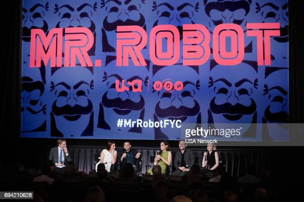 MR ROBOT Official Emmy Event Pictured Kevin Sullivan Grace Gummer Rami Malek Carly Chaikin Christian Slater Portia Doubleday