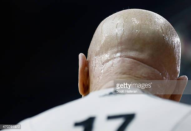 NBA official Joe Crawford waits on the court during the game between the Dallas Mavericks and Houston Rockets during Game One in the Western...