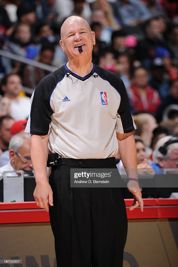 Official Joey Crawford smiles during a game between the Minnesota Timberwolves and the Los Angeles Clippers at Staples Center on November 11, 2013 in Los Angeles, California.