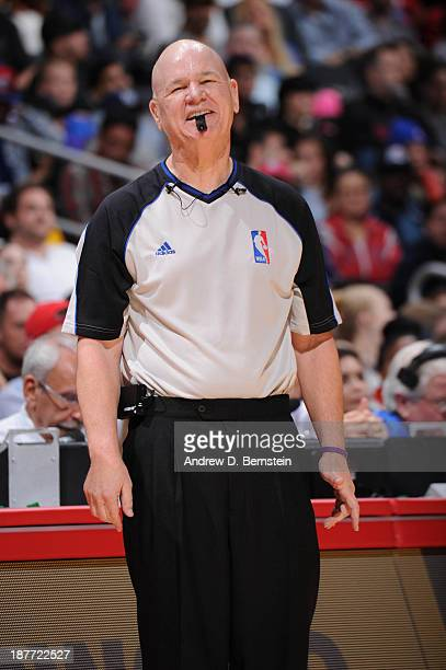 Official Joey Crawford smiles during a game between the Minnesota Timberwolves and the Los Angeles Clippers at Staples Center on November 11 2013 in...