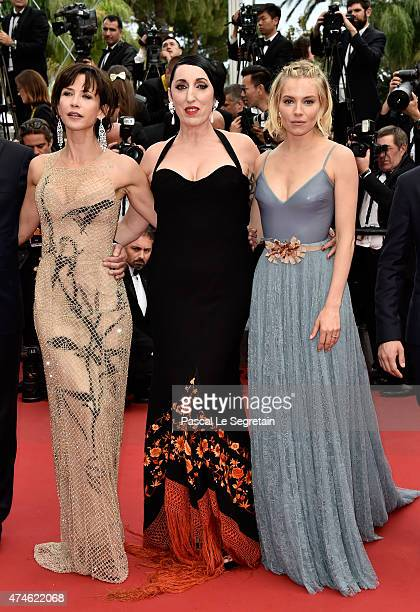 Official Jury Members Sophie Marceau Rossy de Palma and Sienna Miller attend the closing ceremony and Premiere of 'La Glace Et Le Ciel' during the...