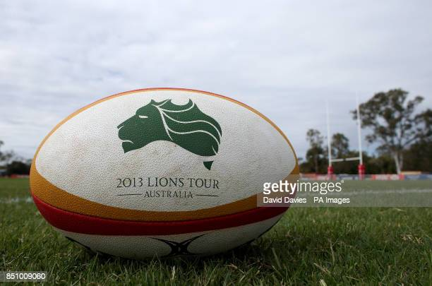 Official Lions Series matchball during the training session at Anglican Church Grammar School Brisbane in Australia