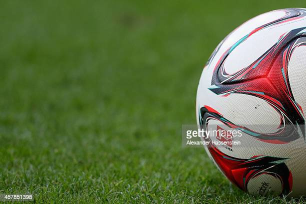 Official matchball Torfabrik for the Bundesliga match between TSV 1899 Hoffenheim and SC Paderborn 07 at Wirsol RheinNeckarArena on October 25 2014...