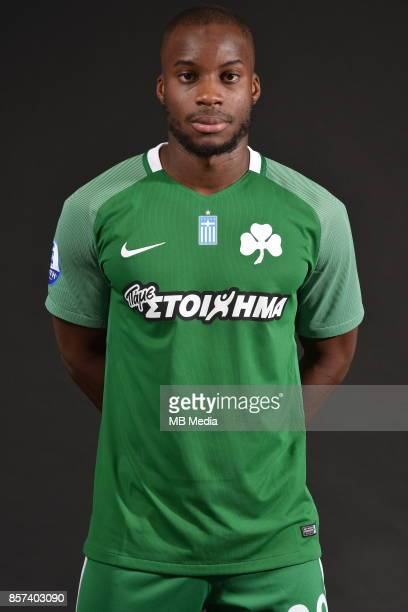 Official photo shooting of Panathinaikos FC midfielder portrait Yacouba Sylla