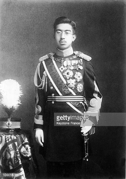 Official portrait between 1928 and 1935 of Emperor HIROHITO of Japan