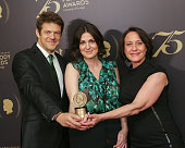 Official recipient for 'How To Dance In Ohio' executive producer Jason Blum director/producer Alexandra Shiva and producer Bari Pearlman pose for...
