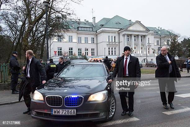 Official state car / armored limousine of President of Poland Andrzej Duda during his visit Otwock on 08 March 2016 in Otwock Poland