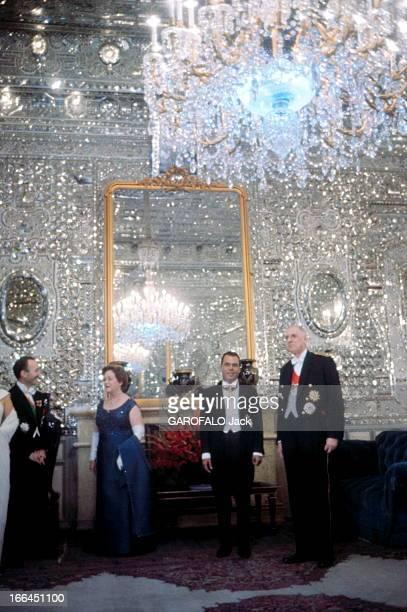 Official Travel Of General Charles De Gaulle In Iran Entre le président Charles DE GAULLE et son épouse Yvonne Mr NAFISSAY maire de Téhéran qui leur...