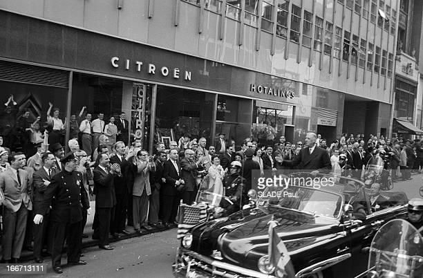 Official Travel Of General De Gaulle To The United States New York En avril 1960 à l'occasion d'un voyage officiel aux Etats Unis le président de la...