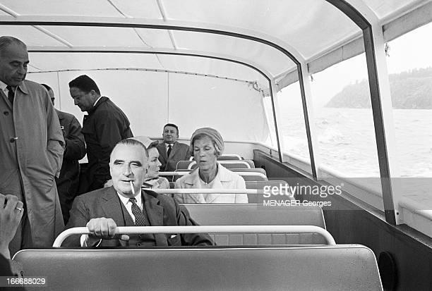 Official Travel Of Georges Pompidou In Sweden Juillet 1964 Georges POMPIDOU Premier Ministre en voyage officiel en Suède avec son épouse Claude...