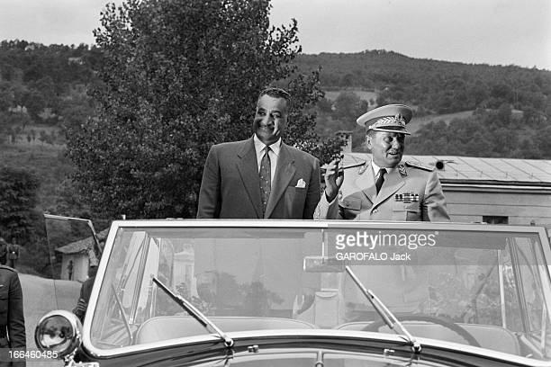 Official Travel Of Nasser In Yugoslavia And Meeting With Marshal Tito Yougoslavie Juillet 1958 rencontre de Gamal NASSER chef d'état égyptien et du...