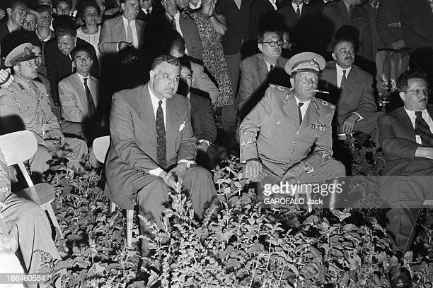 Official Travel Of Nasser In Yugoslavia And Meeting With Marshal Tito Yougoslavie Juillet 1958 rencontre de Gamal NASSER chef d'état égyptien et du...