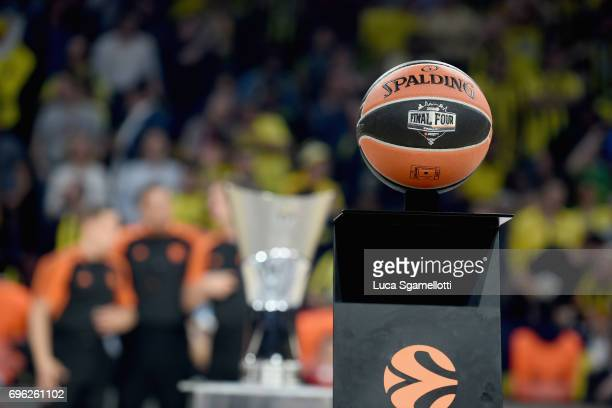 Official Turkish Airlines EuroLeague ball of the Championship Game 2017 Turkish Airlines EuroLeague Final Four between Fenerbahce Istanbul v...