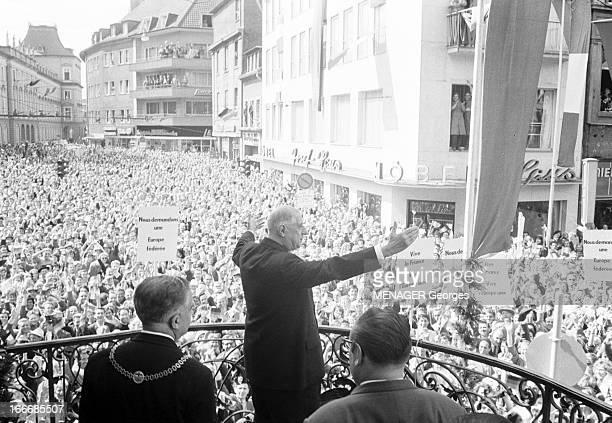 Official Visit Of Charles De Gaulle In Germany Bonn 6 septembre 1962 A l'occasion de sa visite officielle le président Charles DE GAULLE sur le...