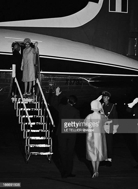 Official Visit Of Elizabeth Ii Of England And Prince Pihlip To Belgium En Belgique près de Bruxelles le 10 mai 1966ldans le cadre d'une visite...