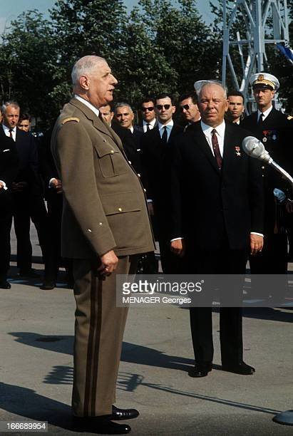 official visit of general charles de gaulle to the ussr pictures getty images. Black Bedroom Furniture Sets. Home Design Ideas