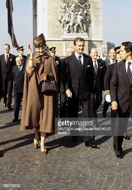 Official Visit Of Margrethe And Henrik Of Denmark In France En France à Paris en octobre 1978 lors d'une visite officielle la Reine Margrethe II DE...