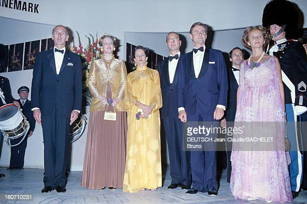 Official Visit Of Margrethe And Henrik Of Denmark In France En France à Paris en octobre 1978 lors d'une visite officielle de gauche à droite Valéry...