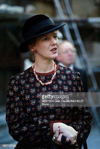 Official Visit Of Margrethe And Henrik Of Denmark In France En France en Champagne en octobre 1978 lors d'une visite officielle portrait de la Reine...