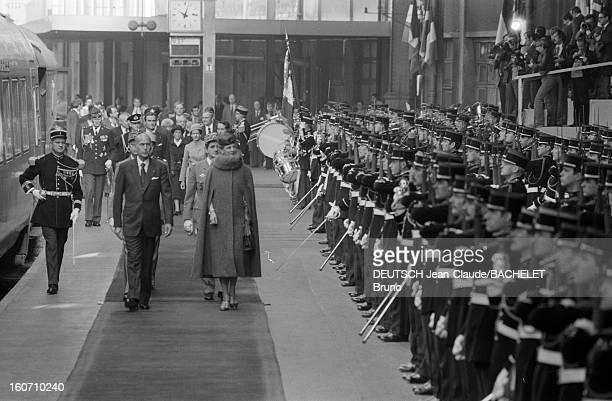 Official Visit Of Margrethe And Henrik Of Denmark In France En France à Paris en octobre 1978 lors d'une visite officielle Valéry GISCARD D'ESTAING...