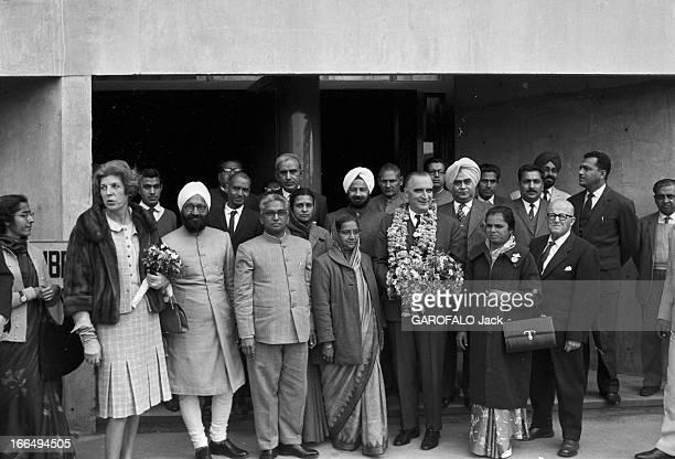 Official Visit Of Prime Minister Georges Pompidou To India Inde 1517 février 1965 Lors de sa visite officielle Georges POMPIDOU Premier ministre...