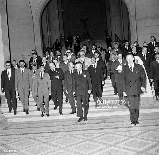Official Visit Of The King Hassan Ii Of Morocco To Paris France Paris 1er juillet 1963 le roi HASSAN II du Maroc 22ème monarque de la dynastie...