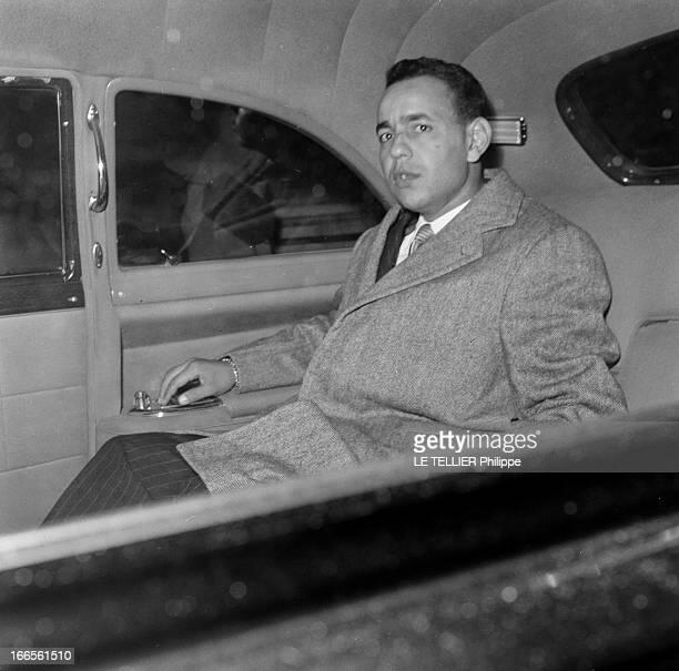 Official Visit Of The Prince Moulay Hassan Of Morocco To Paris Paris octobre 1956 Arrivée du Prince Moulay Hassan du Maroc dans sa voiture