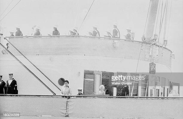 Official Visit Of The Queen Elizabeth Ii And Prince Philips In Malta And Gibraltar En Octobre 1954 à Gibraltar lors de la visite officielle de la...