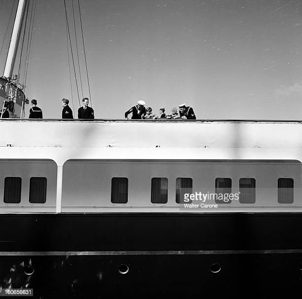Official Visit Of The Queen Elizabeth Ii And Prince Philips In Malta And Gibraltar En Octobre 1954 à Gibraltar lors de la visite officielle de la...