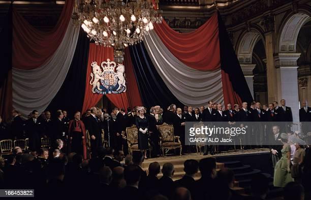 Official Visit Of The Queen Elizabeth Ii To France Paris avril 1957 Visite officielle de la reine ELIZABETH II en France Cérémonie à l'Hôtel de Ville...