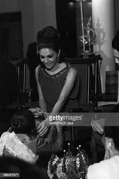 Official Visit Of The Shah Of Iran To Thailand Bangkok 28 Janvier 1968 A l'occasion de la visite officielle en Thaïlande du Shah d'Iran lors d'une...