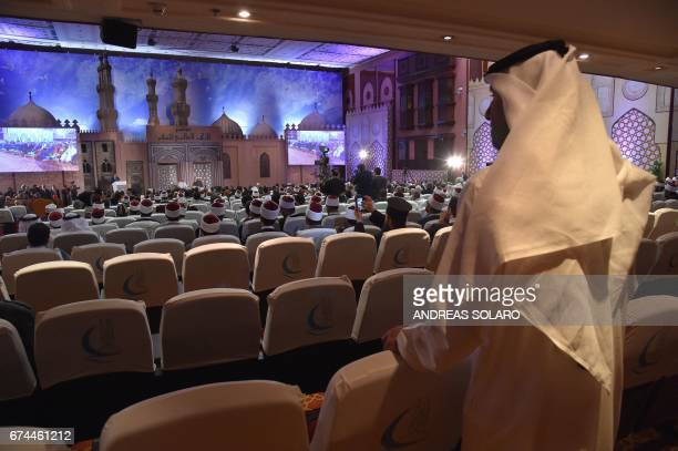 Officials attend a meeting between Pope Francis and Sheikh Ahmed alTayeb the Grand Imam of AlAzhar during a visit to the prestigious Sunni...