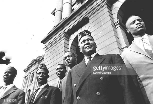JUL 1 1961 JUL 16 1961 Officials From Mali Pause On Statehouse Steps In Denver From left Mamadou Gologo Assamou Diallo Gouido Sow Sekou Kansaye Jean...