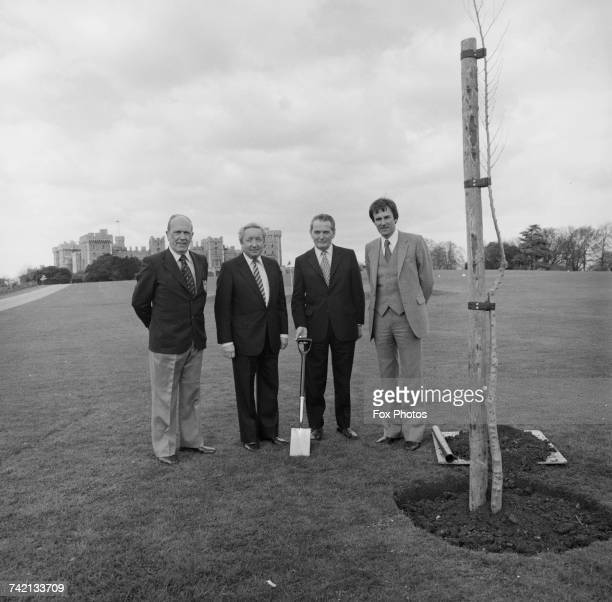 Officials from the Tree Council in Windsor Great Park where an elm tree resistant to dutch elm disease has been ceremonially planted by Prince Philip...
