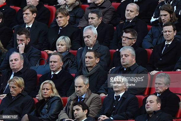 Officials of German football Clubs attend the memorial service prior to Robert Enke's funeral at AWD Arena on November 15 2009 in Hanover Germany...