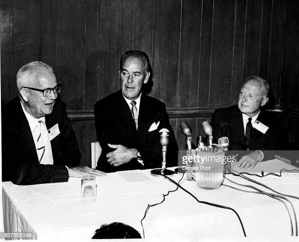Officials Of The American Nuclear Society Attend Conference Left to right are Norman Hilberry ANS president and professor of nuclear energy at the...